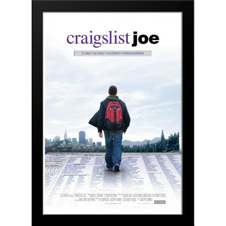 Craigslist Joe 28X36 Large Black Wood Framed Movie Poster Art Print