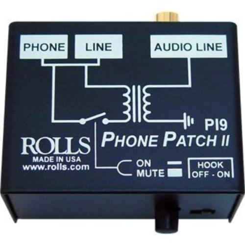 Rolls PI9 Rolls Phone Patch Rj11 To Rca Or 1/8 Min