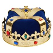 Jeweled King Crown for Royal King or Queen Costume