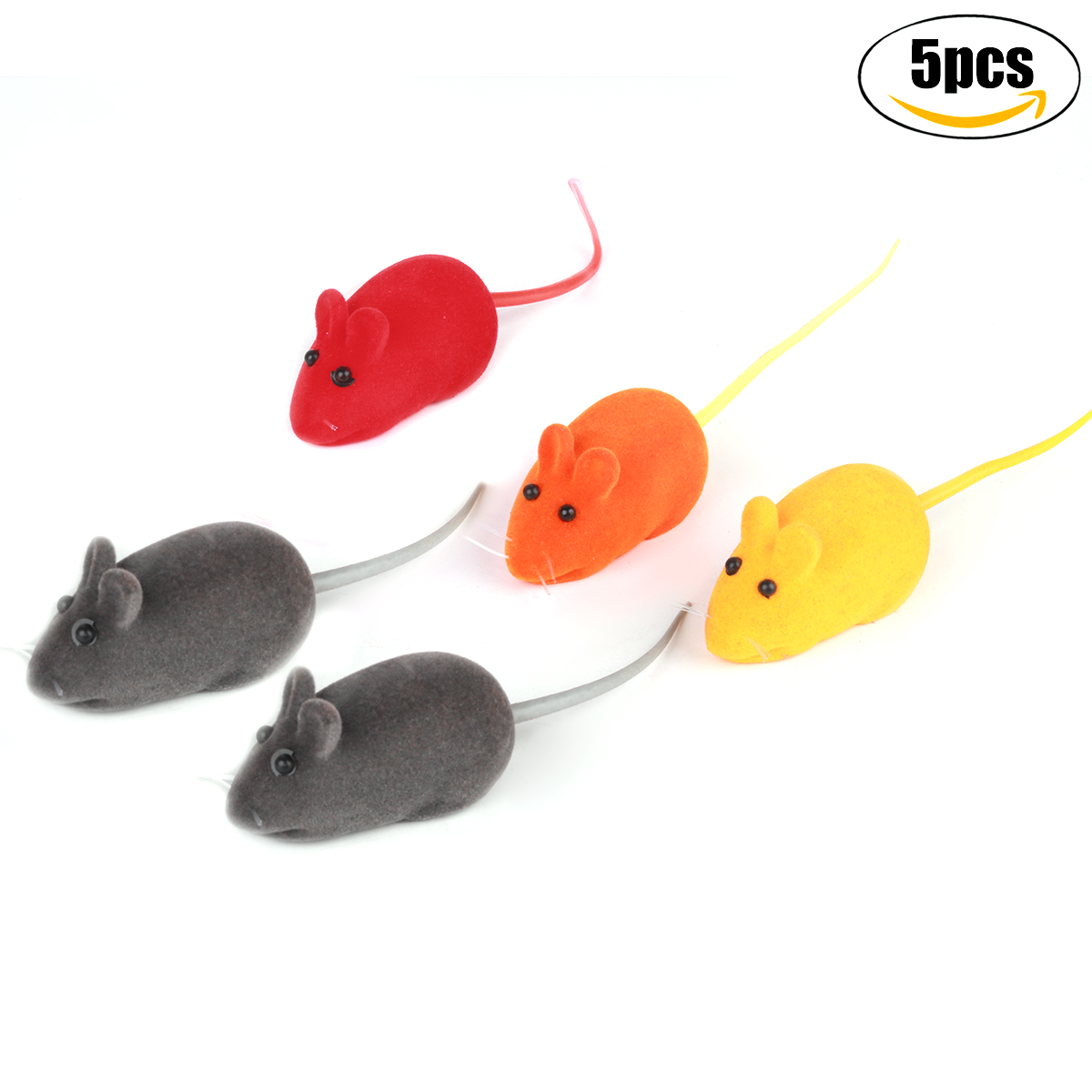 5Pcs Squeaky Toy set, Legendog Mice Funny Interactive Cat Toy Mice Mini Plush Mice Pet Plush Mice Pet Squeaky... by Legendog