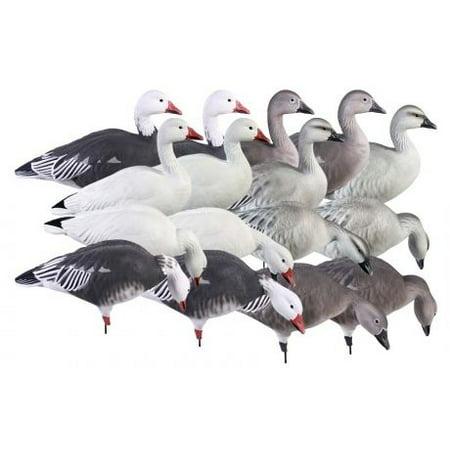 Greenhead Gear Pro-Grade Goose Decoy,Full Body Snow/Blue/Harvester Pack,Dozen 71