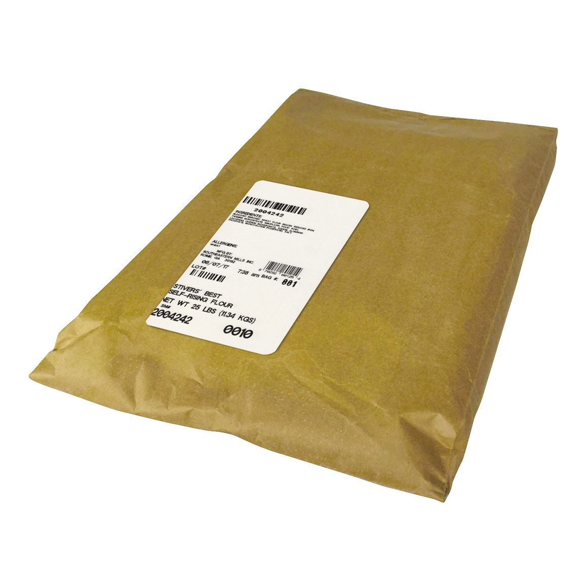 Southeastern Mills Stiver's Best Flour Self Rising 25lbs (PACK OF 1)