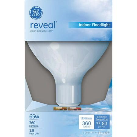 Ge Reveal 65 Watt R40 Flood Light  1 Pack
