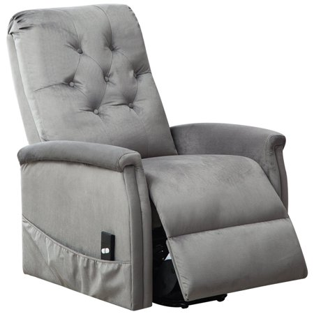 BONZY Power Lift Chair Tufted Recliners Living Room Electric Lifting/Reclining Chairs Furniture - Light Gray - Make Halloween Electric Chair