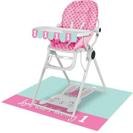 Bunny Birthday (Creative Converting Bunny Party 1st Birthday High Chair)