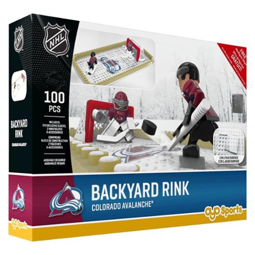 OYO NHL Buildable Backyard Rink Set - Colorado Avalanche