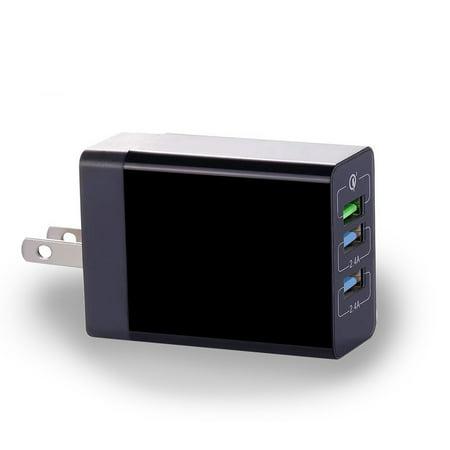 34W 6.8Amp 3-Port USB Home Wall AC Charger w Adaptive Fast Port Compatible With LG Stylo 4 Plus 3 Plus 2 V Plus, Q7 Plus Q6, Premier LTE, Lancet, K8+ (34w Phones)
