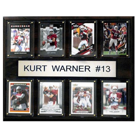 C And I Collectables Nfl 15W X 12H In  Kurt Warner Arizona Cardinals 8 Card Plaque