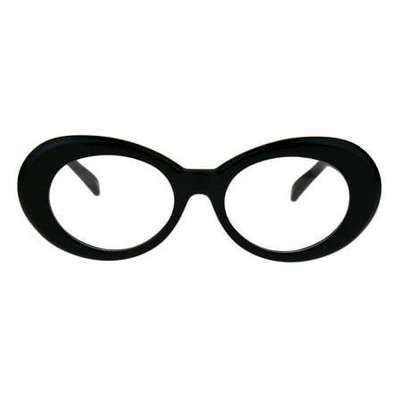 Womens Oval Round Plastic Retro Vintage 20s Mod Eye Glasses