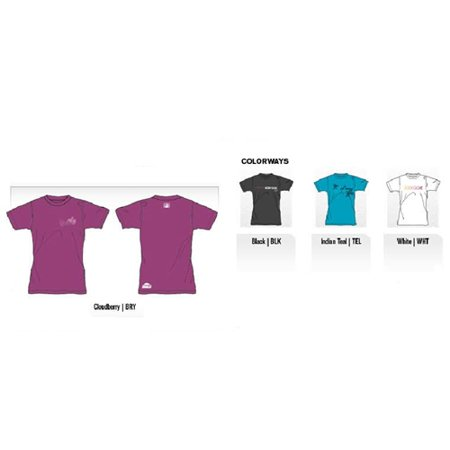 Body Glove Women's 6oz Deluxe Short Arm Loosefit Lycra Shirt (Large, Cloudberry) ()