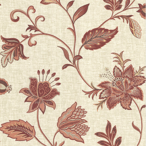 Brewster Home Fashions La Belle Maison 33' x 20.5'' Floral and Botanical 3D Embossed Wallpaper