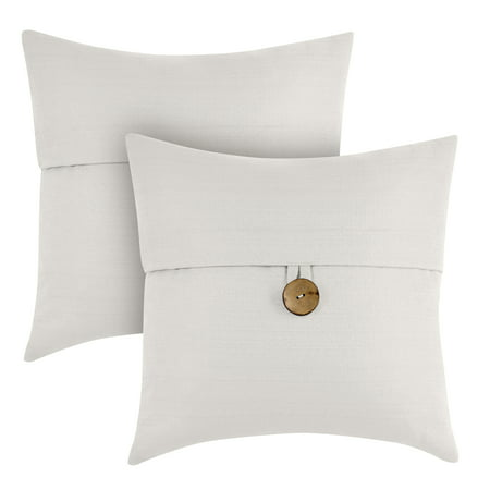 Hope Throw Pillow - Better Homes & Gardens Feather Filled Banded Button Decorative Throw Pillow, 20
