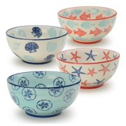 4-Pc 6 in. Assorted Coastal Bowl Set