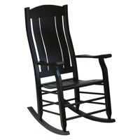 Hinkle Carrington Slat Back Wood Patio Rocking Chair