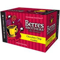 Berres Brothers Coffee Roasters Chocolate Chip Cookie Coffee Single Serve Cups, 12 cups, 4.23 oz