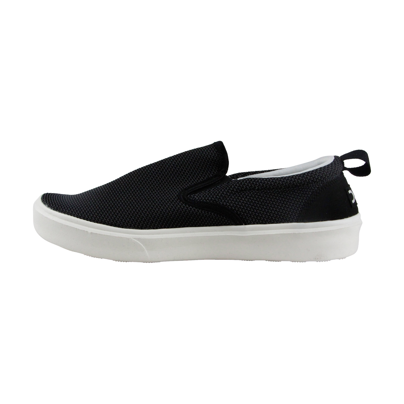 Hey Dude Flip Slip On Mens Black Canvas Slip On Sneakers Shoes