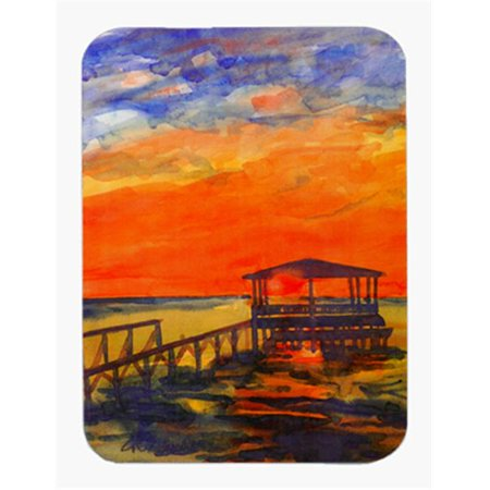 Sunset Dock - 9.5 x 8 in. Sunset From the Dock at the Pier Mouse Pad, Hot Pad Or Trivet