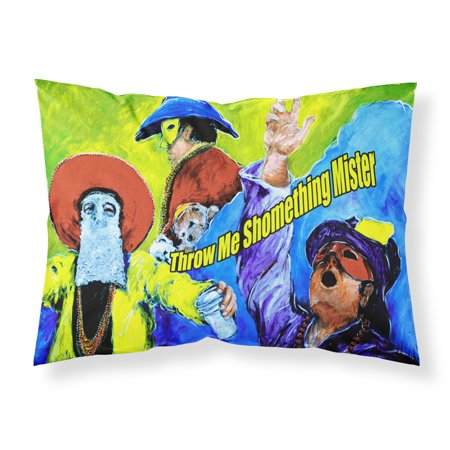 Mardi Gras Throw me something mister wicking Fabric standard pillowcase](Mardi Gras Throws)