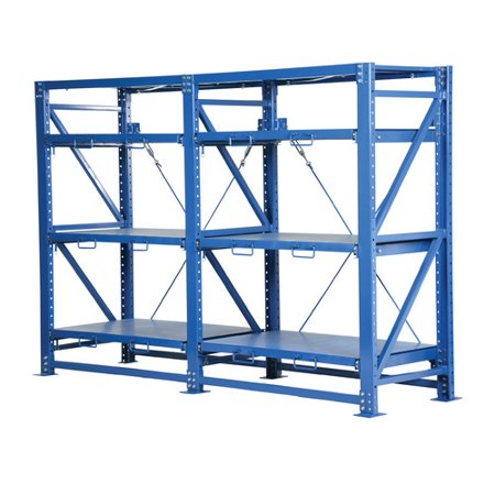 Vestil Heavy Duty Roll-Out 60'' H Three Shelf Shelving Unit (Heavy Duty Roll Out Shelving)