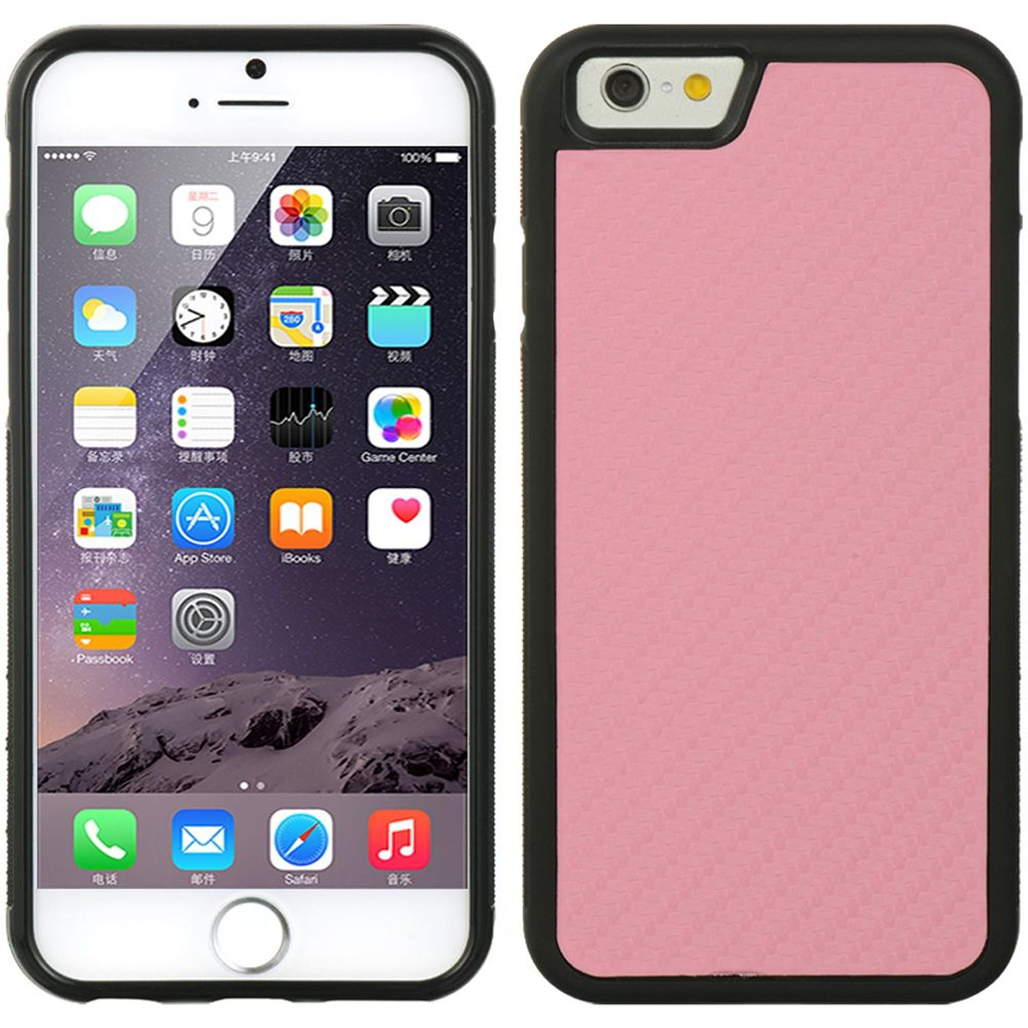 Apple iPhone 6 Plus/6s Plus Case, by DreamWireless Rubber TPU Case Cover For Apple iPhone 6 Plus/6s Plus, Hot Pink/Black