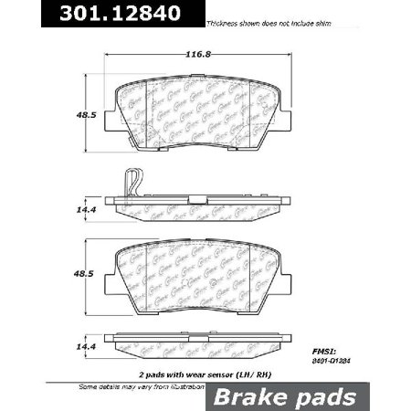 Go-Parts OE Replacement for 2010-2016 Hyundai Genesis Coupe Rear Disc Brake Pad Set for Hyundai Genesis Coupe (2.0T / 2.0T GT / 2.0T Premium / 3.8 / 3.8 GT / 3.8
