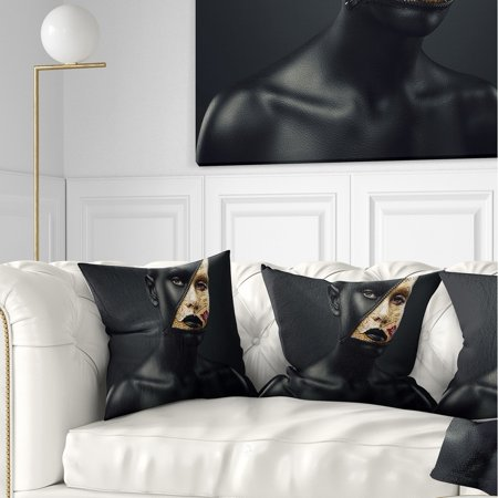 Prime Design Art Designart Woman With A Zip On Face Portrait Throw Pillow Inzonedesignstudio Interior Chair Design Inzonedesignstudiocom