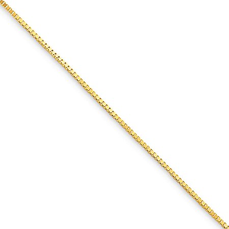 10k Yellow Gold 0.7mm Box Chain Necklace, 16in