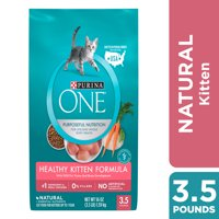 Purina One Healthy Kitten Natural Dry Cat Food, 3.5 lb