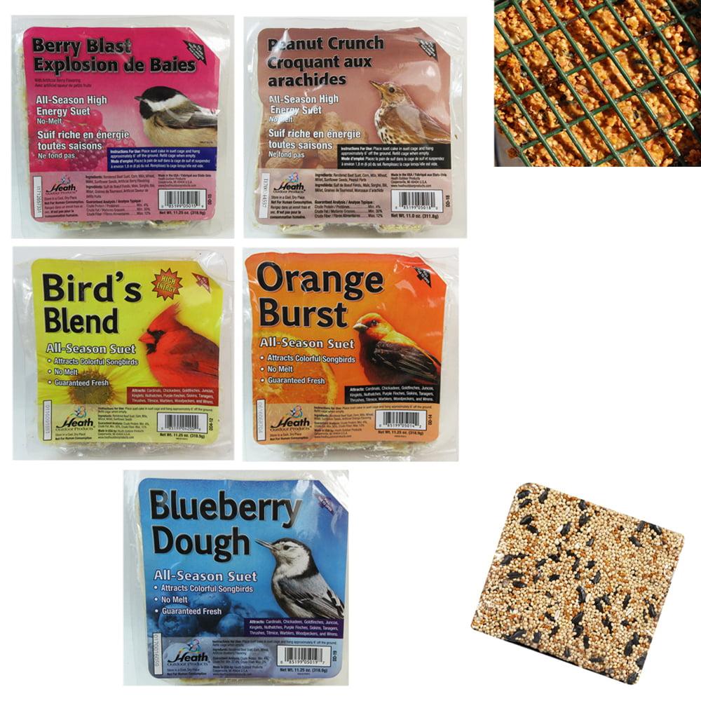 5 Pack Heath Outdoor Products All Season Suet Cake Wild Bird Food Treat 11.25 oz by JMK IIT