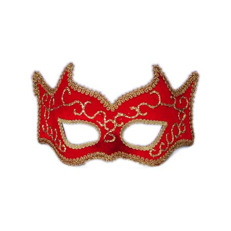 Red And Gold Best Ever Venetian Carnival Devil Eye Mask - Scariest Mask Ever
