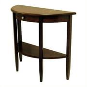 Pemberly Row Half Moon Wood Console/Sofa Table in Walnut