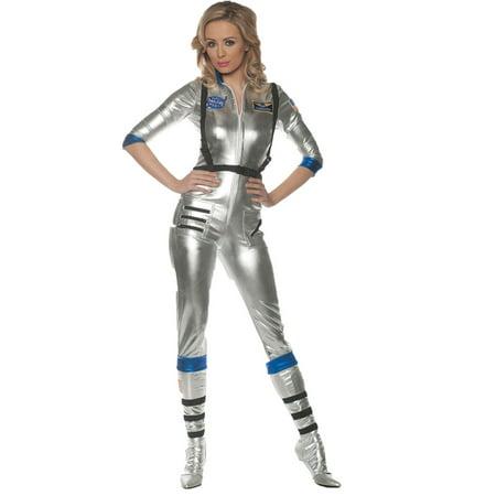 Astronaut Jumpsuit (Adult Female NASA Space Astronaut Silver Orbit Occupational Jumpsuit)
