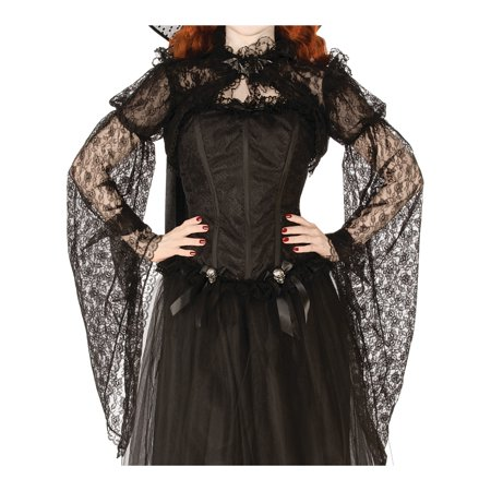 Womens Shadowy Realm Black Floral Victorian Costume