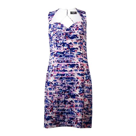 Guess Sweater Dress (Guess Women's Scuba Printed Sheath  Dress (14, Multi) )