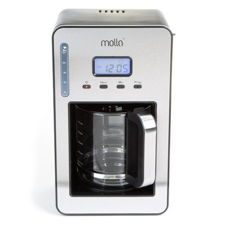 Molla PerfectDrip 12-Cup Programmable Coffee Maker, Black, Stainless Steel - Walmart.com