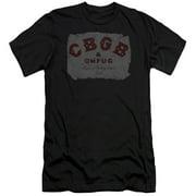 CBGB Crumbled Logo Mens Slim Fit Shirt