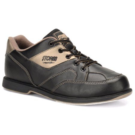 Storm Mens Taren Bowling Shoes Right Hand- Black/Bronze 10 1/2 M US