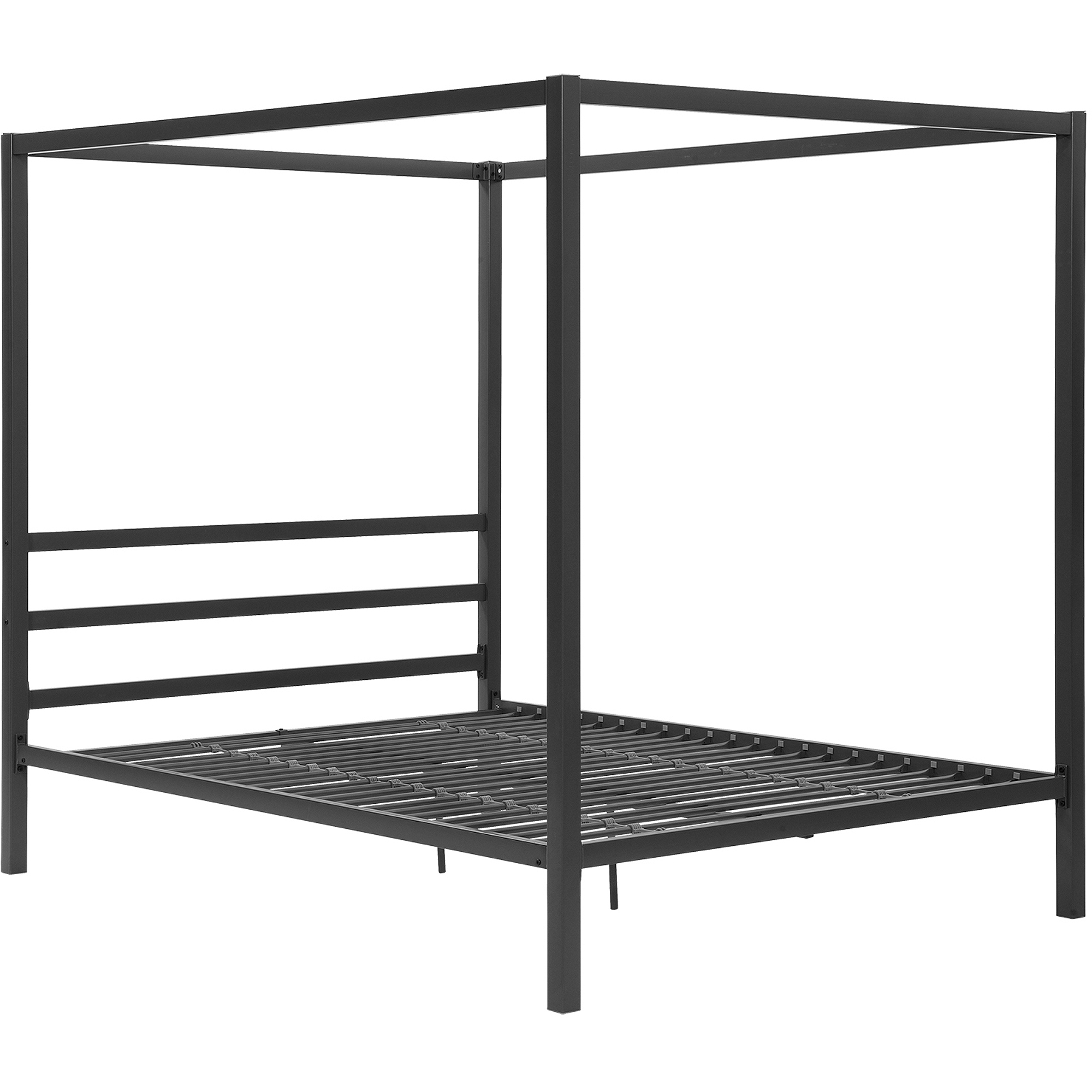 Canopy Bed Modern modern canopy queen metal bed, multiple colors - walmart