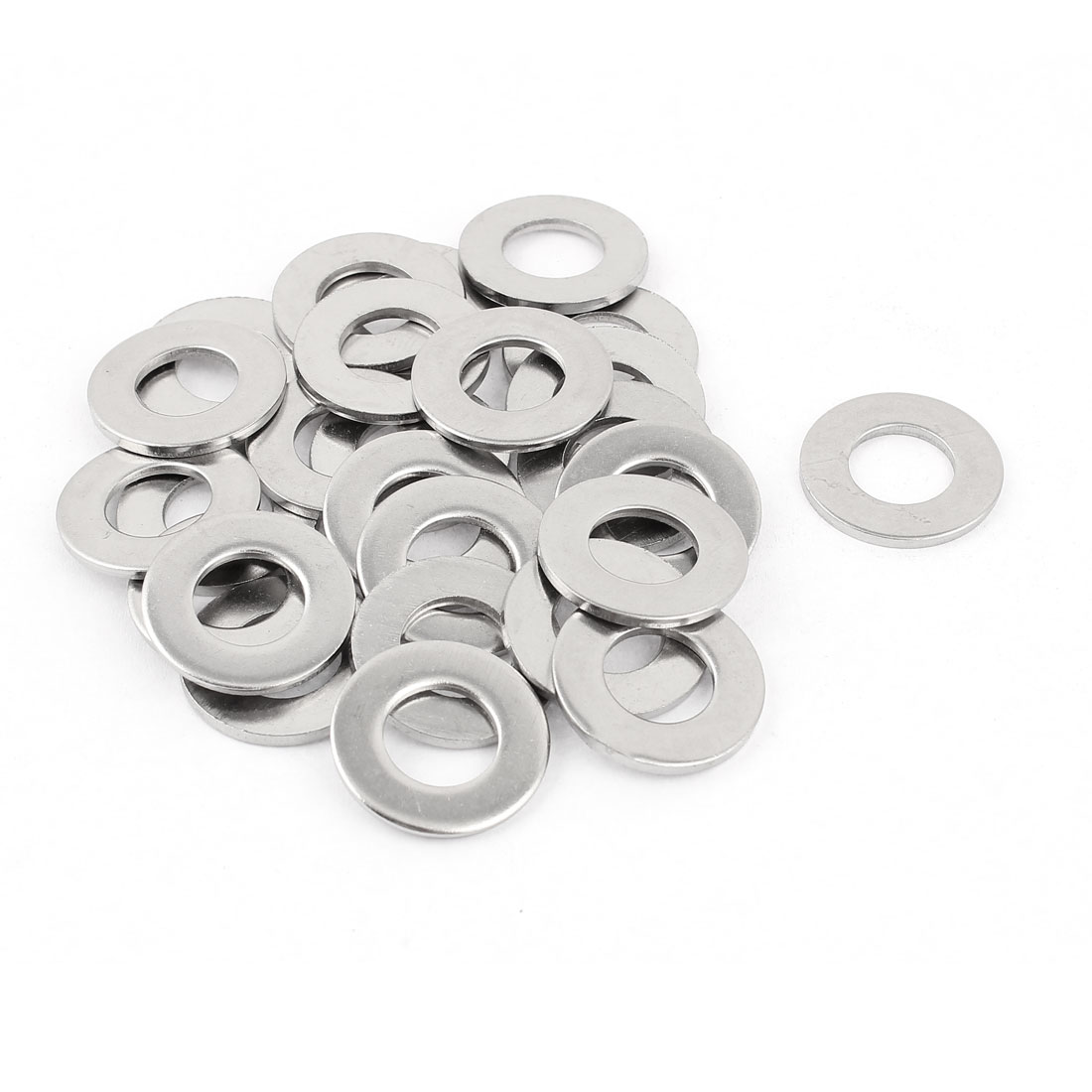 Uxcell M12 x 24mm x 2mm 304 Stainless Steel Flat Washer for Screw Bolt (25-pack)