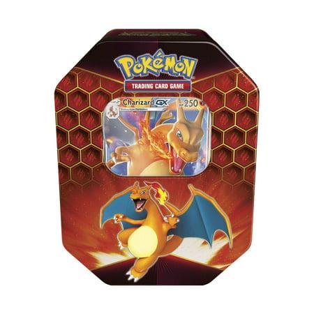 Pokemon TCG Sun and Moon 11.5 Hidden Fates GX Tin- Charizard GX (Pokemon Charizard Card Old)