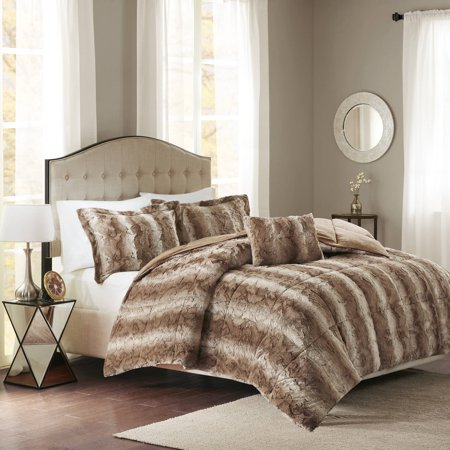 Home Essence Marselle Faux Fur Comforter Set