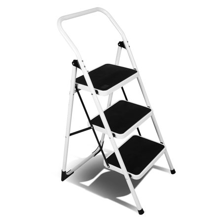 Fantastic Magshion Ladder Platform Lightweight Folding Stool Heavy Duty Industrial Safety Space Saving 3 Step Machost Co Dining Chair Design Ideas Machostcouk