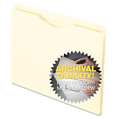 Esselte Pendaflex 22022 Anti Mold-Mildew Reinforced Top File Jacket, Flat, Letter, Manila, 100-Box
