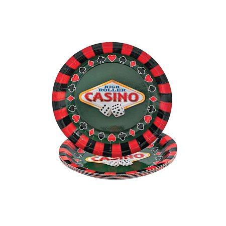 IN-70/7576 8 Casino Dessert Plates - Casino Plates