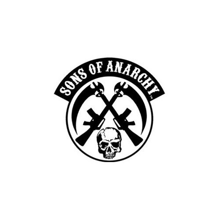 Sons Of Anarchy Patches (Sons of Anarchy Crossed Skull And Gun)