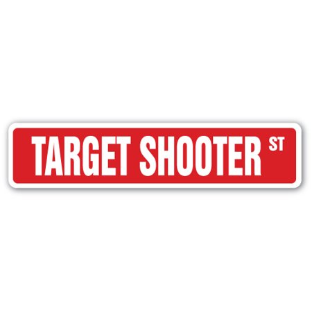 TARGET SHOOTER Street Sign gun range bow arrow rifle | Indoor/Outdoor |  24