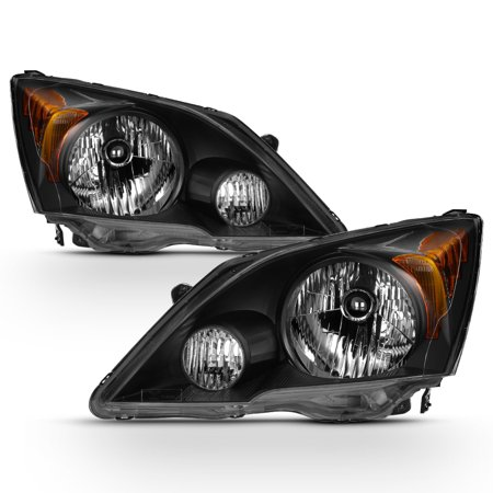 07 Honda Fit Led (Fits 2007-2011 Honda CR-V Black Headlights Complete Replacement 07 08 09 10 11 )