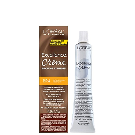 Loreal Excellence Creme Extreme Browns #Br-4 Med Red Brown