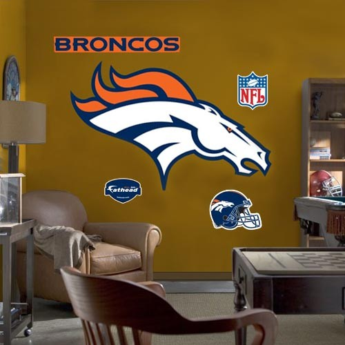 Denver Broncos Team Logo Fathead Wall Sticker - No Size
