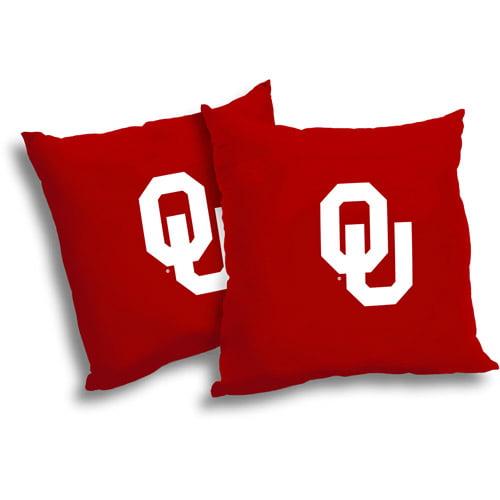 "NCAA Oklahoma Sooners 18"" Pillow, 2-Pack"